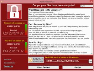 WannaCry Screen Shot
